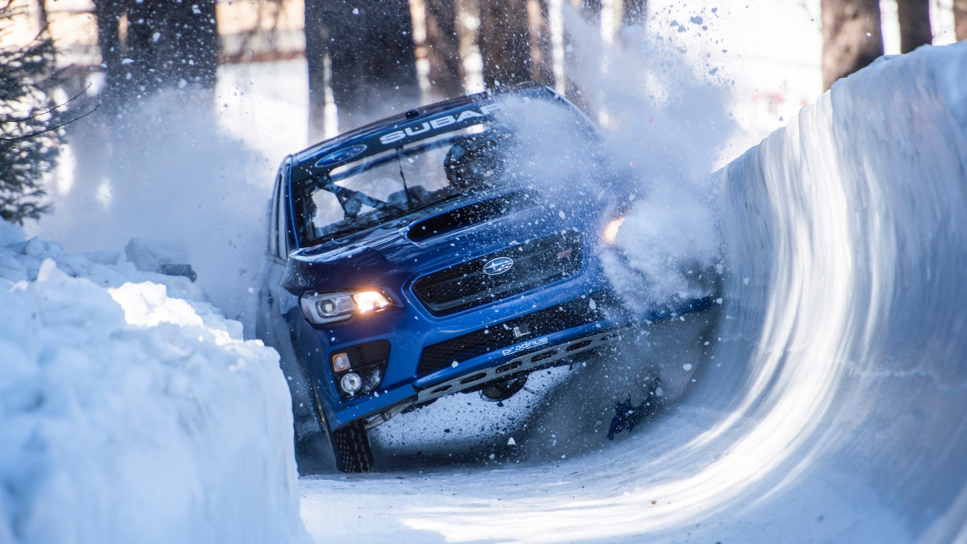 Subaru WRX na bobové dráze